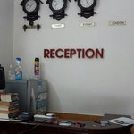 The reception counter
