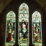 Stained glass in the St Lawrence Chapel