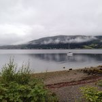 Loch Long shoreline next to hotel