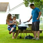 Enjoy the use of the pinic benches and BBQs