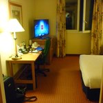 Hotel room from door