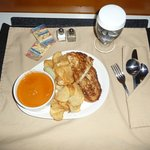 Room service - soup & sandwich