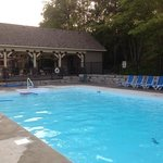 Pool area and gazebo.