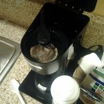 Upon our arrival...coffee maker not cleaned out