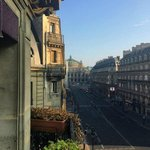 View towards Opera Garnier from hotel room balcony