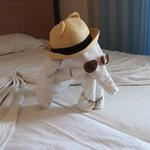 cleaning staff made an elephant from towels for us :)))