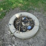 Fire-pit full of trash
