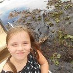 """Alligator Selfie"""