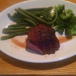 Nice steak: I chose 2 veg. healthy meal and delicious