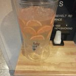 Fruit infused water in main lobby