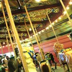 From onboard the Lakeside Park Carousel
