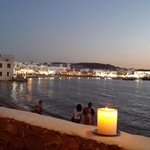 The view of Mykonos Town from our table at the Natura Restaurant at the Leto Hotel.