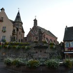 Eguisheim town square and Hostellerie du Chateau
