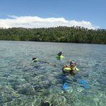 Enjoying Bunaken Snorkeling