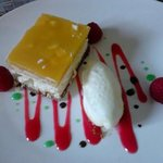 cheesecake fruit de la passion, mangue