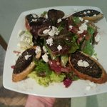 Boudin Noir and goat cheese salad