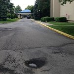 Potholes on all parking areas and driveways
