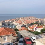 looking over Dubrovnik from the pension