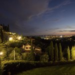 The lights of Florence from our room