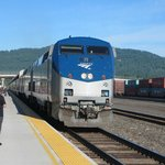 Amtrak's Empire Builder arriving into Whitefish station