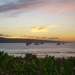 Sunset over Lanai - well from the lanai