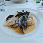 Crab ravioli (tasty, but small main course portion)