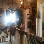 Upstairs is the antique and gift shop.