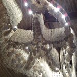 Gorgeous shell chandelier