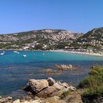 Baia Sardinia bay area and beach