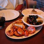 Our seafood platter. this was a serving for two!