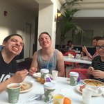 Happy with their continental breakfast at The Best Western.