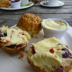 Cream tea, almost eaten!