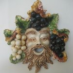 Bacchus, god of the wine, Italian ceramic in hotel lobby