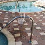 zip ties on pool and Jacuzzi