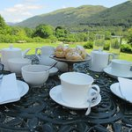 Tea and scones on the terrace