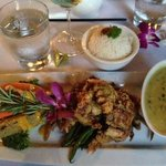 Soft shell crab with green curry sauce, yummy!