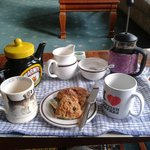 Tea and cake when we arrived!