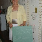 Donna, our cheerful innkeeper