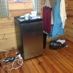 mini fridge inside front bedroom