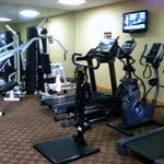 Fairly well equipped gym with flat screen TV