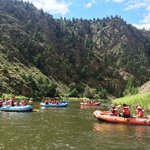 Colorado River Full Day Trip - view of other rafts from our raft