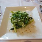 Our frisee salad with asparagus was a perfect starter