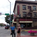 Beautiful downtown Kalispell, Montana and Kalispell Grand Hotel