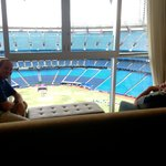 View of the field from the living room (Room 454)
