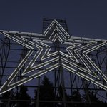 The Mill Mountain Star at dusk