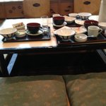 Japanese-style breakfast, or what's left of it!