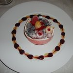 Le dessert aux fruits rouges....