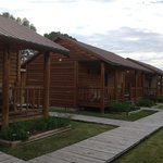 The front of the cabins