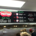 Menu - I wouldn't spoil the deliciousness of the fritter with ice cream