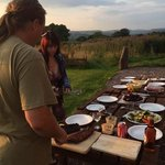 barbecuenoutside at toft barn